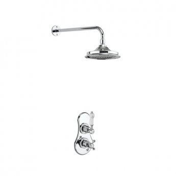 Burlington Severn Dual Concealed Mixer Shower, 12inch Fixed Head