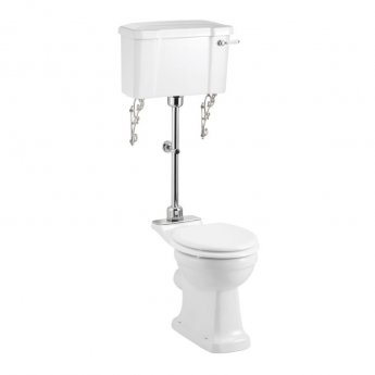 Burlington Standard Medium Level Toilet Lever Cistern - Excluding Seat