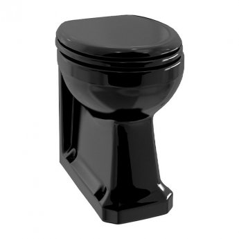 Burlington Standard Back to Wall Toilet with Soft Close Seat - Black