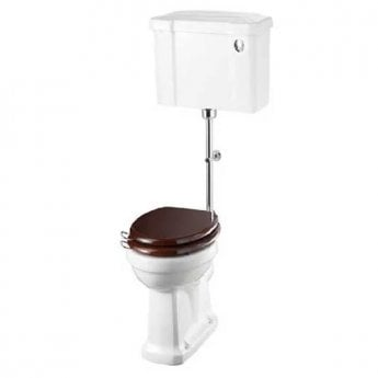 Burlington Standard Medium Level Toilet Push Button Cistern - Excluding Seat