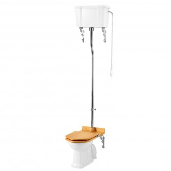 Burlington Standard High Level Toilet Single Flush Cistern - Excluding Seat