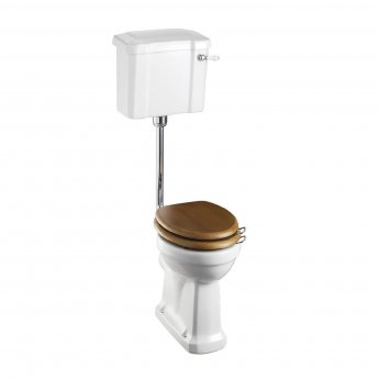 Burlington Standard Low Level Toilet Slimline Lever Cistern - Excluding Seat