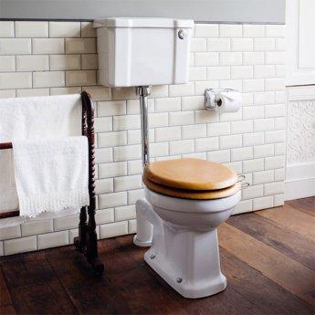 Burlington Standard Low Level Toilet Slimline Push Button Cistern - Excluding Seat