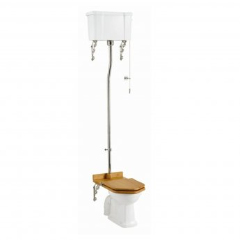 Burlington Standard High Level Toilet White Ceramic Cistern - Excluding Seat