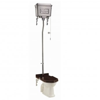 Burlington Standard High Level Toilet Polished Aluminium Cistern - Excluding Seat