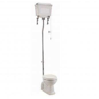 Burlington Standard High Level Toilet White Aluminium Cistern - Excluding Seat