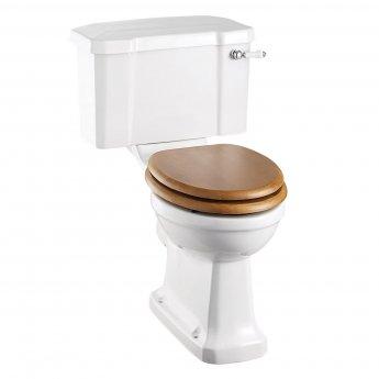 Burlington Standard Close Coupled Toilet Deep Ceramic Lever Cistern - Excluding Seat
