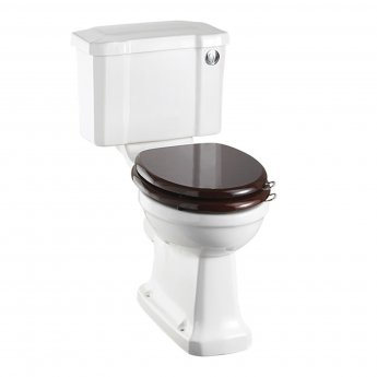 Burlington Standard Close Coupled Toilet Slimline Push Button Cistern - Excluding Seat