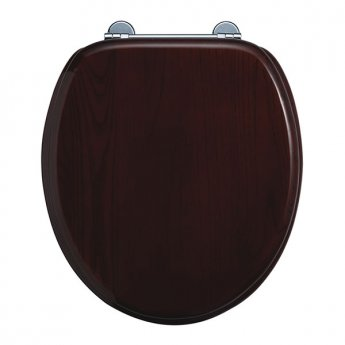 Burlington Standard Moulded Wood Toilet Seat, Standard Hinges, Mahogany