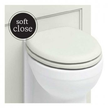 Burlington Standard Moulded Wood Toilet Seat, Soft Close Hinges, Sand