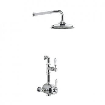 Burlington Stour Dual Semi-Exposed Mixer Shower, 6inch Fixed Head