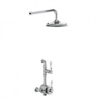 Burlington Stour Dual Semi-Exposed Mixer Shower, 9inch Fixed Head