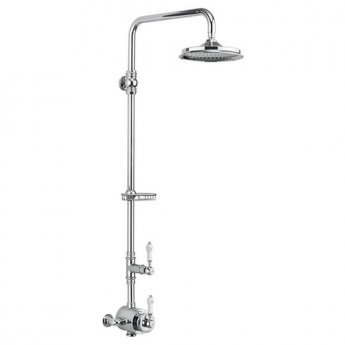 Burlington Stour Dual Exposed Mixer Shower with 12\ Fixed Head