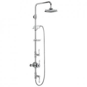 Burlington Stour Triple Exposed Mixer Shower with Shower Kit + 12\ Fixed Head