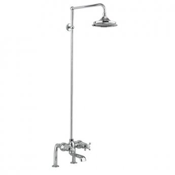 Burlington Tay Bath Shower Mixer with Rigid Riser with Fixed Head