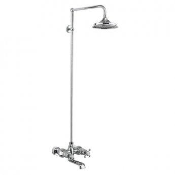 Burlington Tay WM Bath Shower Mixer with Rigid Riser with Fixed Head