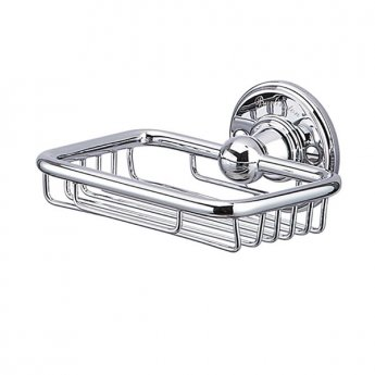 Burlington Traditional Wire Soap Basket, Wall Mounted, Chrome