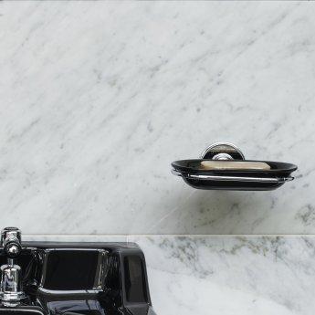 Burlington Traditional Soap Dish Wall Mounted - Black/Chrome