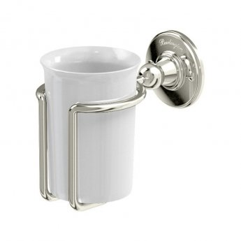 Burlington Traditional Tumbler and Holder Wall Mounted - White/Nickel
