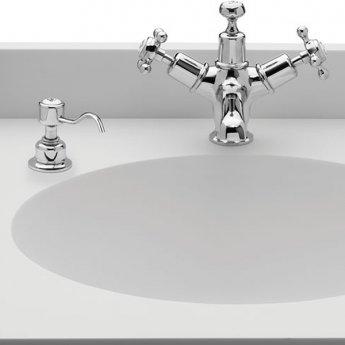 Burlington Traditional Single Soap Dispenser, Surface Mounted, White/Chrome