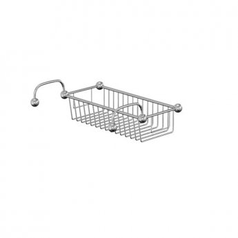 Burlington Traditional Bath Wire Basket, Rim Mounted, Chrome
