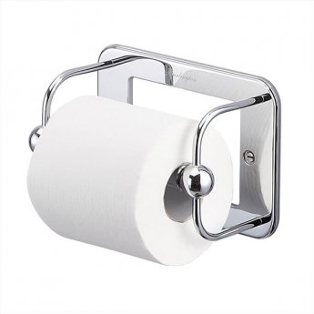 Burlington Traditional Toilet Roll Holder and Cover, Wall Mounted, Chrome