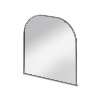 Burlington Traditional Curved Bathroom Mirror, 700mm High x 700mm Wide, Chrome