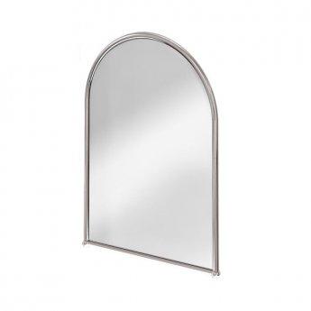 Burlington Traditional Arched Bathroom Mirror, 700mm High x 500mm Wide, Chrome