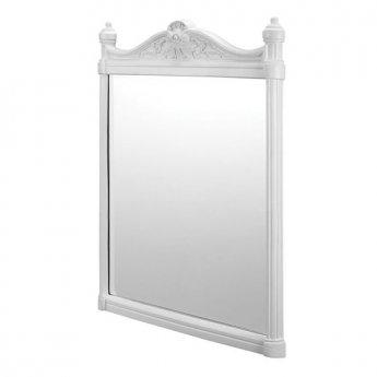 Burlington Traditional Framed Bathroom Mirror, 750mm High x 553mm Wide, White