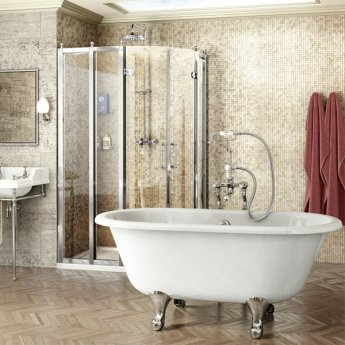 Burlington Traditional LH Offset Quadrant Shower Enclosure, 1000mm x 800mm, 8mm Glass