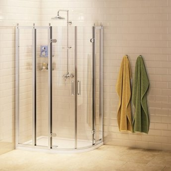 Burlington Traditional RH Offset Quadrant Shower Enclosure, 1000mm x 800mm, 8mm Glass