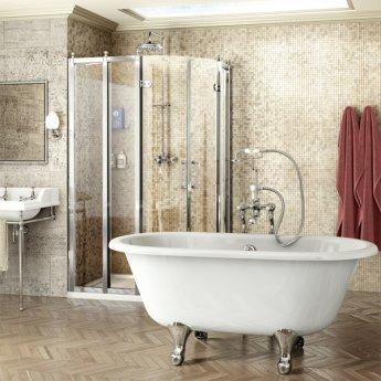 Burlington Traditional Offset Quadrant Shower Enclosure, 1000mm x 800mm, 8mm Glass