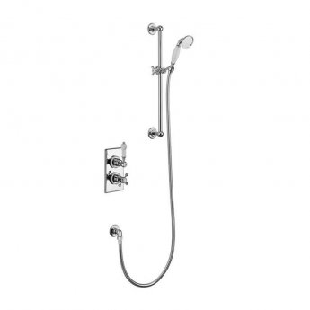 Burlington Trent Thermostatic Dual Concealed Mixer Shower with Shower Kit - Medici