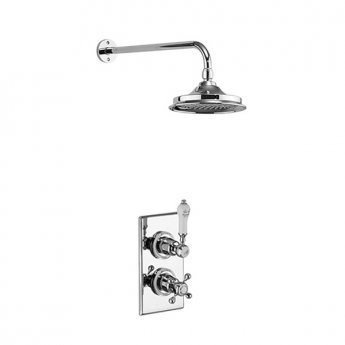 Burlington Trent Dual Concealed Mixer Shower, 9inch Fixed Head