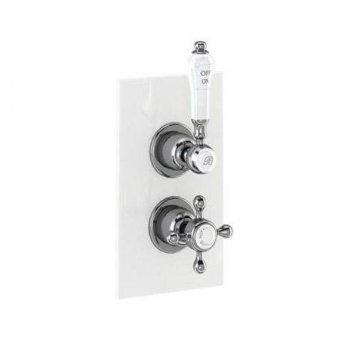 Burlington Trent Dual Concealed Mixer Shower Kit, 6inch Fixed Head