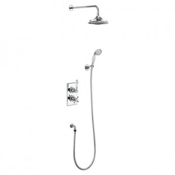 Burlington Trent Dual Concealed Mixer Shower with Shower Kit + 9 Inch Fixed Head
