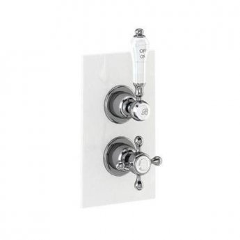 Burlington Trent Dual Concealed Mixer Shower with Shower Kit + 12\ Fixed Head