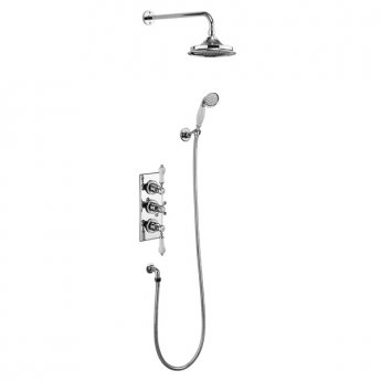 Burlington Trent Triple Concealed Mixer Shower with Shower Kit + 12\ Fixed Head