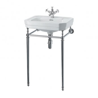 Burlington Victorian Basin with Chrome Wash Stand, 560mm Wide, 1 Tap Hole