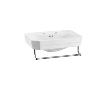 Burlington Victorian Basin with Towel Rail, 560mm Wide, 2 Tap Hole