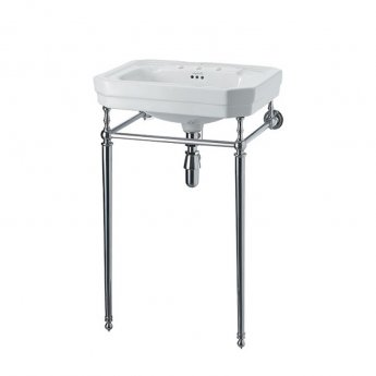 Burlington Victorian Basin with Chrome Wash Stand, 560mm Wide, 3 Tap Hole