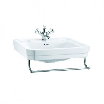 Burlington Victorian Basin with Towel Rail, 610mm Wide, 1 Tap Hole