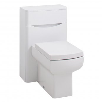 Cali Bali Back to Wall WC Unit - 500mm Wide - White Ash
