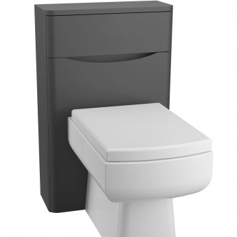 Cali Bali Back to Wall WC Unit - 500mm Wide - Matt Black