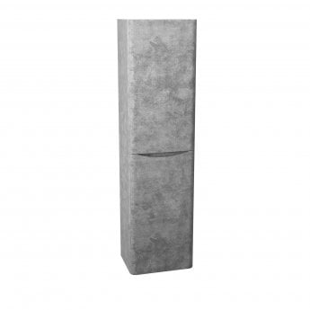 Cali Bali Wall Mounted Tall Storage Cabinet - 400mm Wide - Concrete