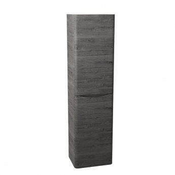 Cali Bali Wall Mounted Tall Storage Cabinet - 400mm Wide - Graphite Oak