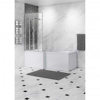 Cali 4-Fold Bath Screen - 1400mm High x 800mm Wide - 4mm Glass