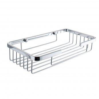 Cali Wire Rectangular Soap Basket - Chrome