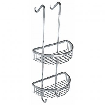 Cali Double Wire D-Shaped Shower Tidy - Chrome
