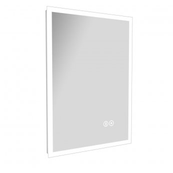 Cali LED Touch Sensor Ambient Straight Edges Bathroom Mirror 700mm H x 500 W with Bluetooth and De-Mist